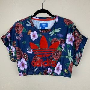 Adidas x Rita Ora Roses Logo Originals Crop Top